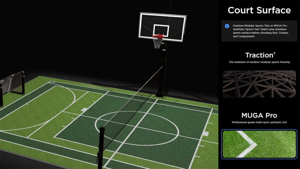 OnCourt Multi-Sports Synthetic Sports Turf Option